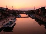 2016年8月13日の内川沿いの夕景