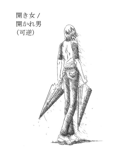 1  (開き女 開かれ男(可逆) 明度100.コントラスト85)