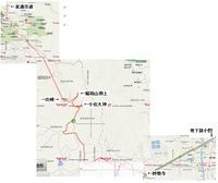 小野ー稲荷山ー泉湧寺道ー地図