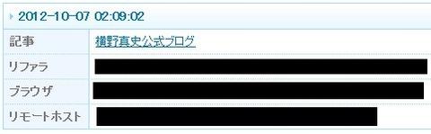 livedoor ライブドア リモホ リモートホスト 晒し ip