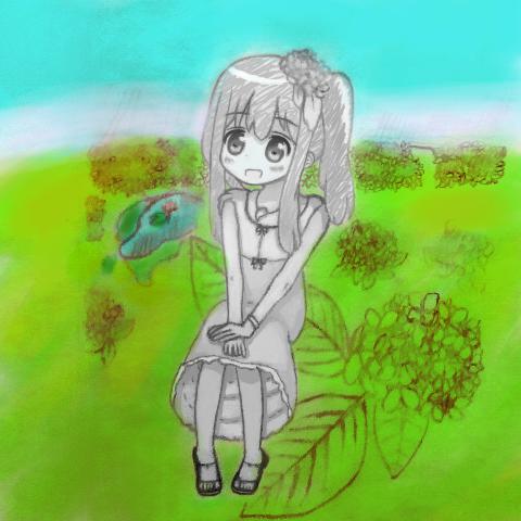 アジサイ 園 蓮 池