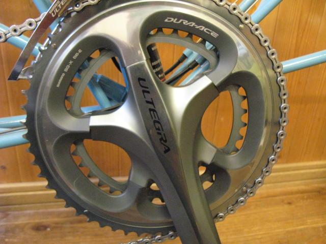自転車の シマノ 自転車 ギア グレード : インナーにチェーンを落とした ...
