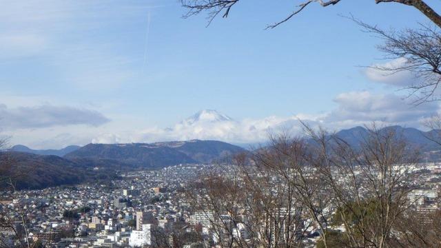 浅間山からの富士山