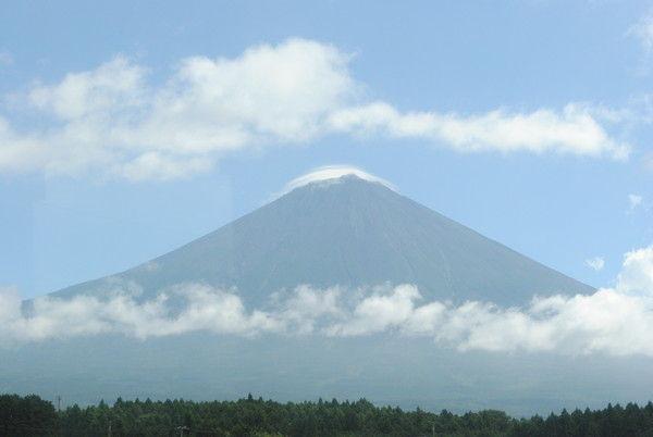 富士宮市内からの富士山