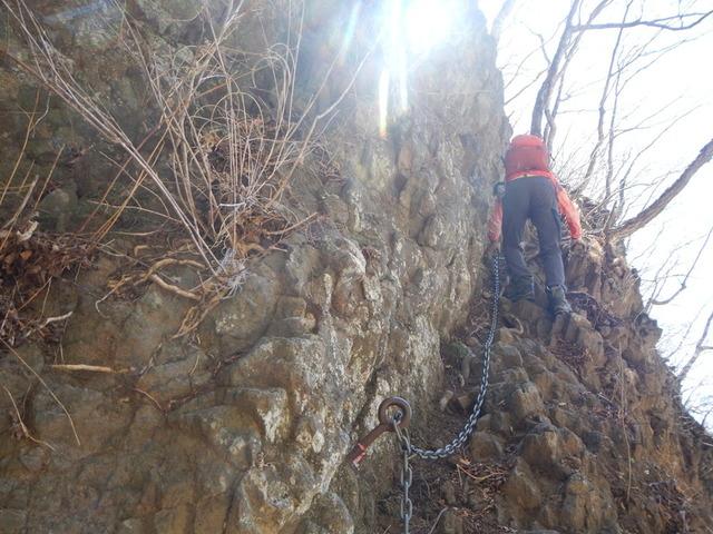 2ルンゼ先要注意トラバース・立岩
