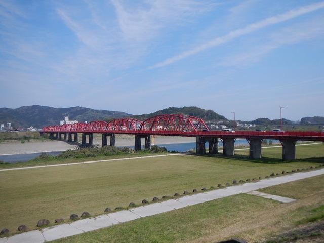 16赤鉄橋が見えればゴールは近い・四万十川