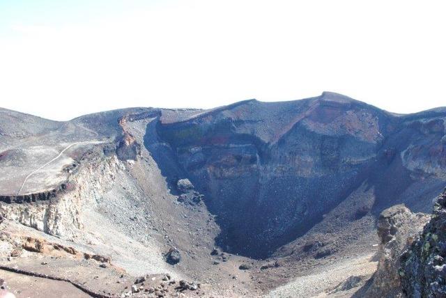 大迫力の噴火口