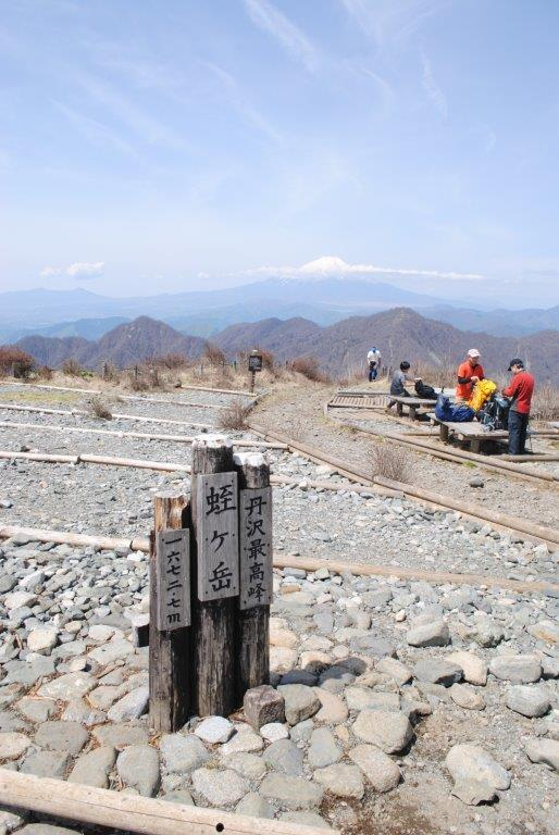 蛭ヶ岳山頂からの富士山