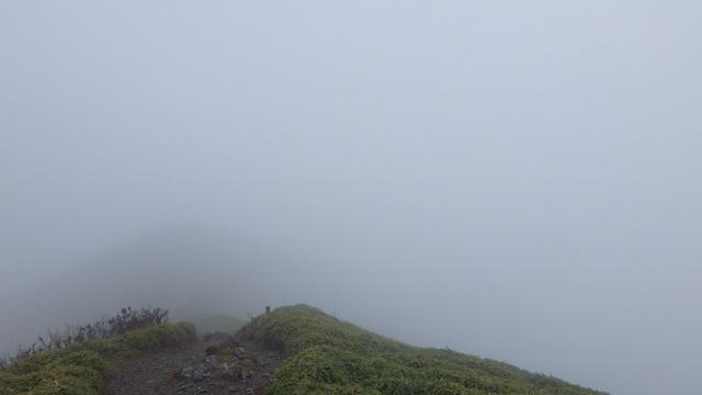 次郎笈の山頂付近から剣山を見る。
