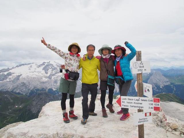 ピッツボエ(3152m)山頂にて