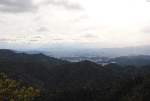 金比羅山山頂直下からの京都市街