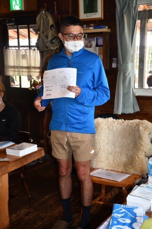 DSC_6986山の気象について講義をする猪熊隆之さん