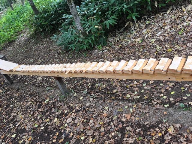 16大雪森のガーデン 森の木琴
