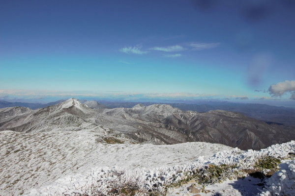 三本槍岳山頂からの展望。