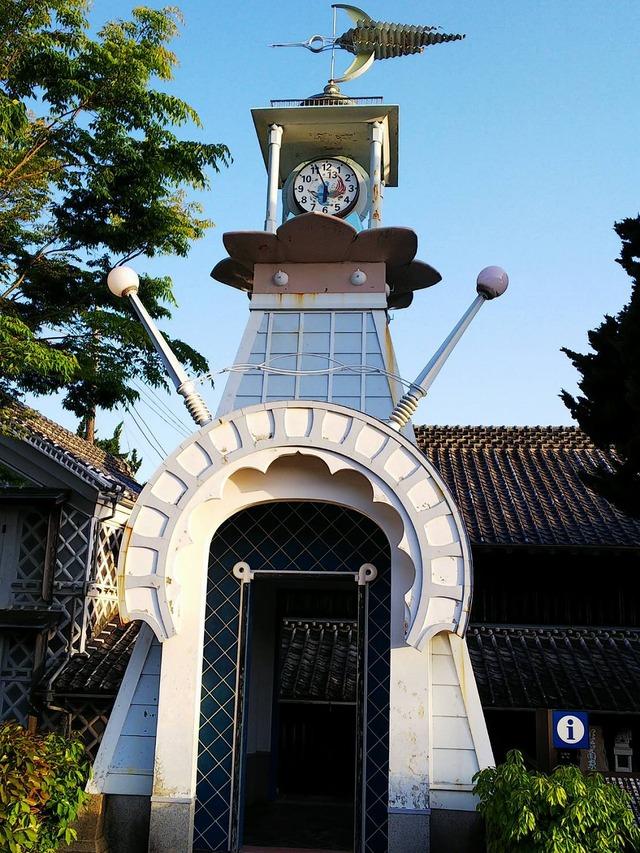 ⑭松崎町の時計台。13時まであります!