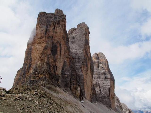 ラバレド峠からトレチーメの岩峰