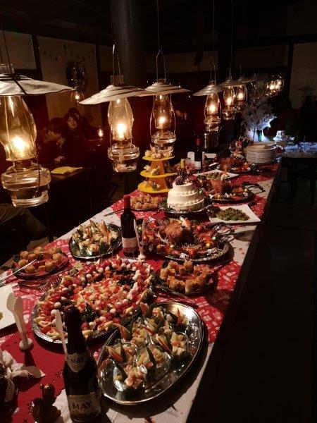 ひだやクリスマスのテーブル