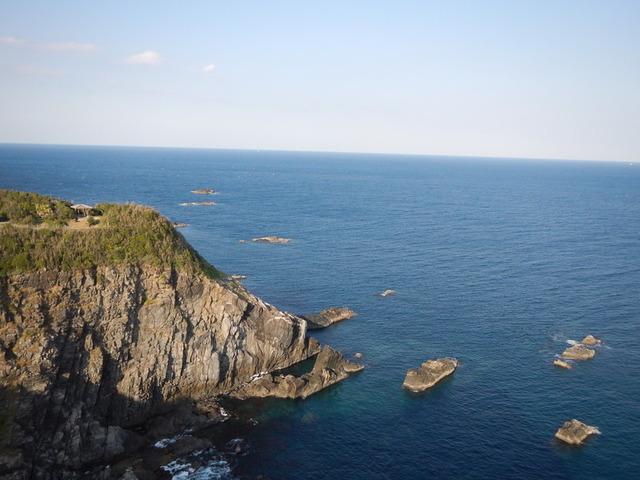 4足摺岬から太平洋を望む