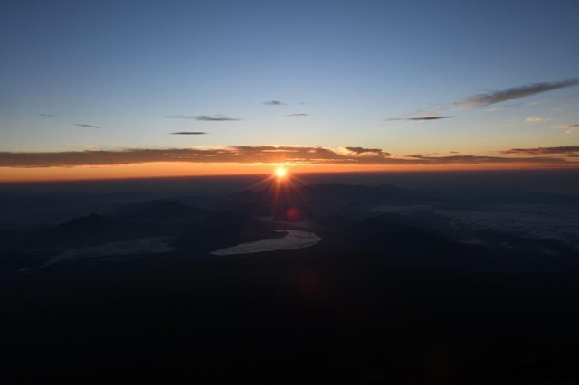 DSC_8564八合目からの夜明け。新しい一日の始まり