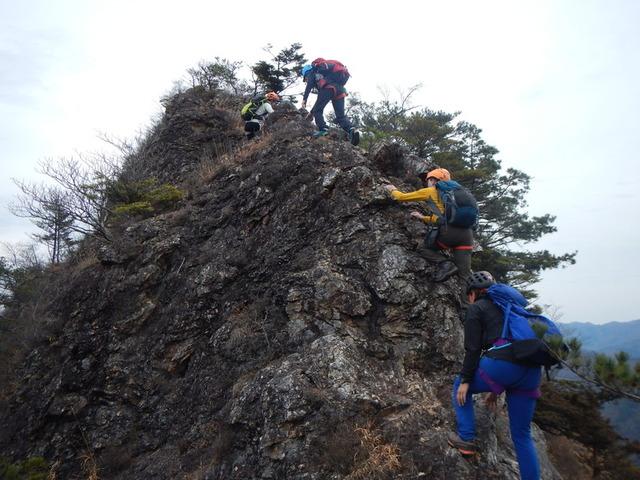 15解放感ある大岩の岩場