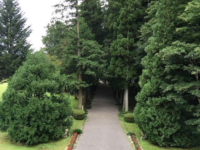 旧青木家那須別邸から・青木周蔵が走ってみた道