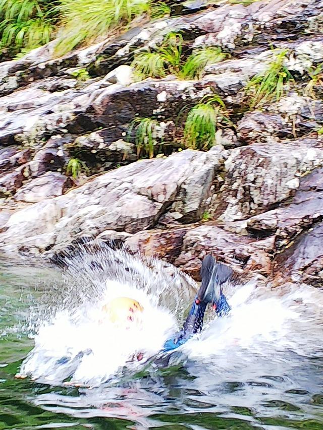 ④勇気を出して、淵へ飛び込む!
