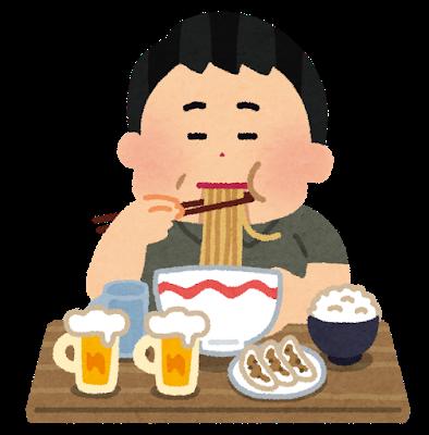 syokuji_tabesugi_man