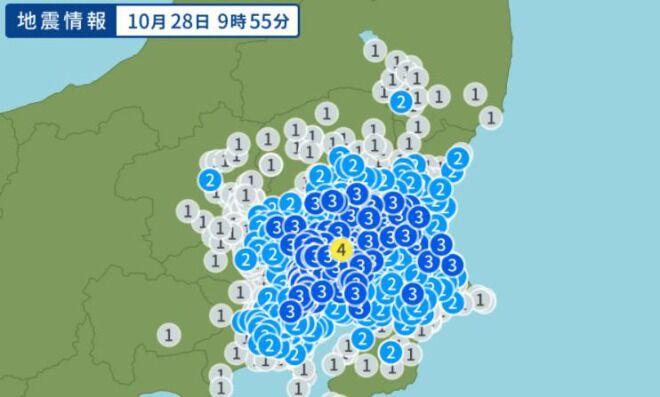 茨城県で震度4の地震、東京都でも強い揺れを観測!関東地方で地震増加か 福島県沖M5.2などの地震も