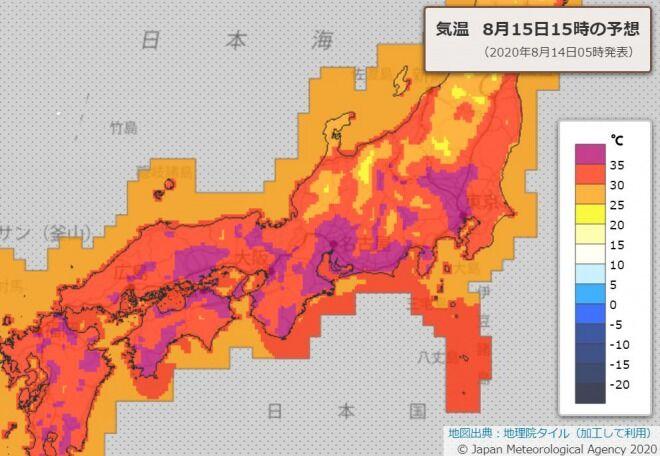 【注意】驚異的な暑さ、週末は40℃予想!大都市圏も37℃以上に!ゲリラ豪雨にも警戒を