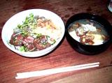 00.三色海鮮丼と味噌汁の完成