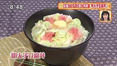 花のズボラ飯 【明太子豆腐丼】