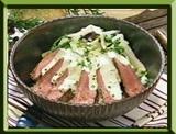 マツケンレシピ マツケン流 ステーキ丼