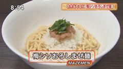 自家製麺ほうきぼし 【梅シソおろしまぜ麺】