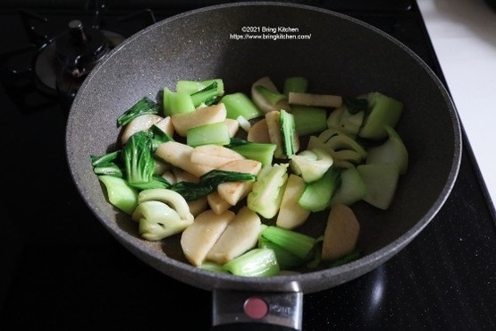 20201126青梗菜と長芋のアンチョビ炒め 9