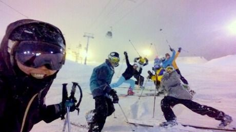 Telemark ski ladies night with Biff russel