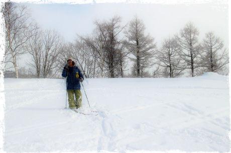 旭ケ丘スキー場てっぺんで