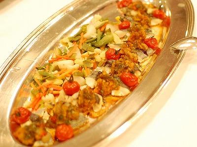 旬魚のソテー 森のきのこと野菜と共に