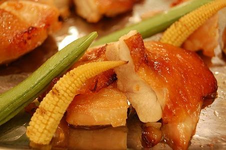 チキンのバーベキュー焼きオレンジマーマレード風味