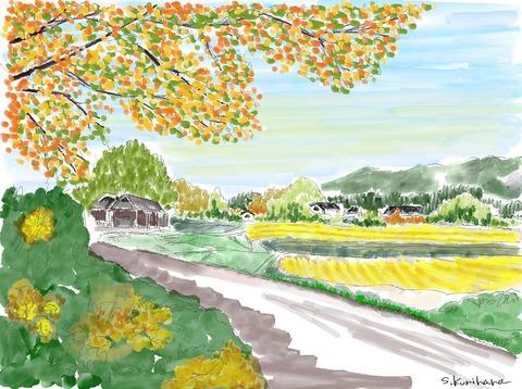 (完成)秋の田園風景