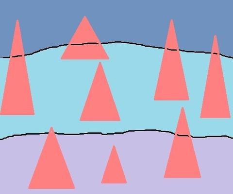 ピンクの三角形