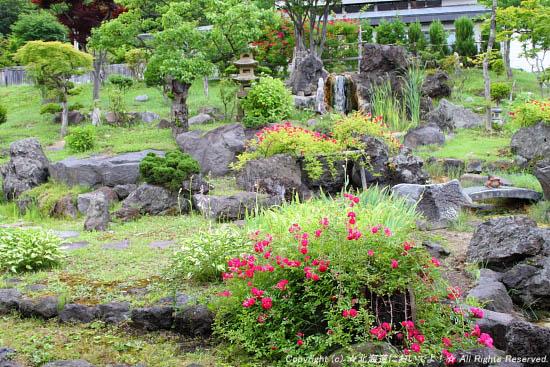 豊平峡温泉 やわらぎの里の庭園