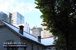 2010年10月27日(水)時計台につもる初雪