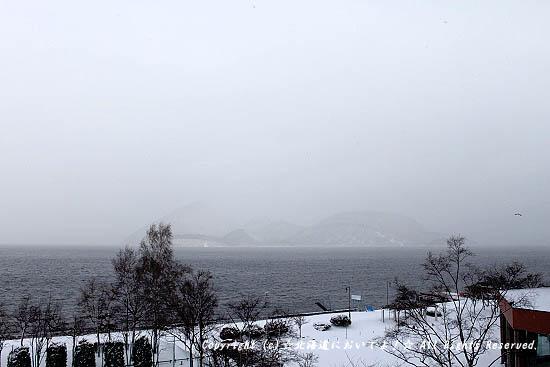 2010/1/2 洞爺湖の中島は見えず