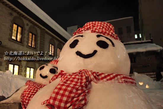 小樽雪あかりの路の雪だるま