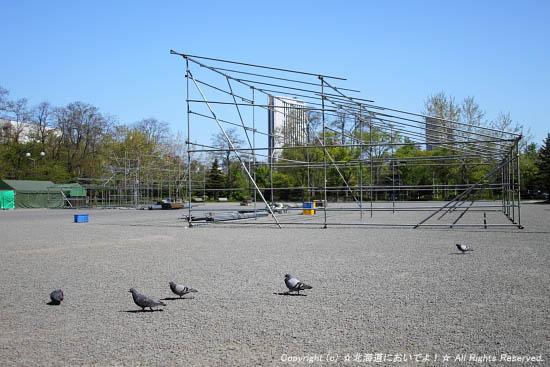 2010年5月31日(月)札幌まつりの準備の様子