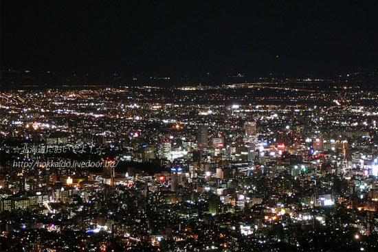 札幌もいわ山から眺めた札幌市内