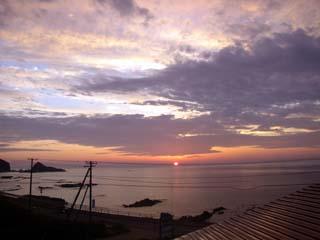 納沙布岬からの日の出