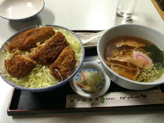 ソースかつ丼半ラーメンセット