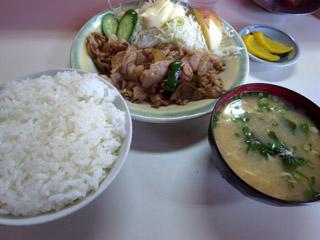 生姜焼き定食@万福