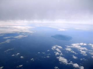 大島と富士山